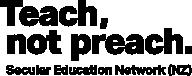 Teach Not Preach - Secular Education Network New Zealand logo